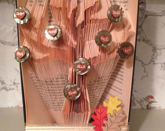 Folded Book Art Family Tree with 3 Generations