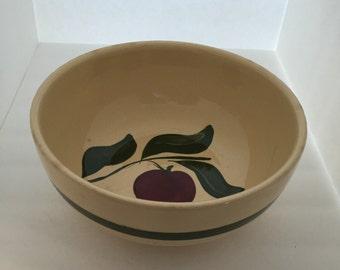 Vintage Watt Apple Bowl//Watt 3 Leaf Apple Bowl//Watt Apple 9'' Bowl