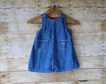 Tommy Hilfiger Denim Jumper - Denim Braces - Denim Dress - Toddler Denim Size 18-24 month