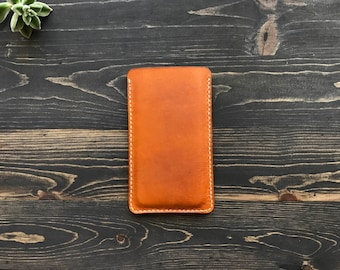 Leather iPhone Case, Leather iPhone X case, iPhone Sleeve, Leather iPhone 8 plus case, iPhone 8 case, iPhone X