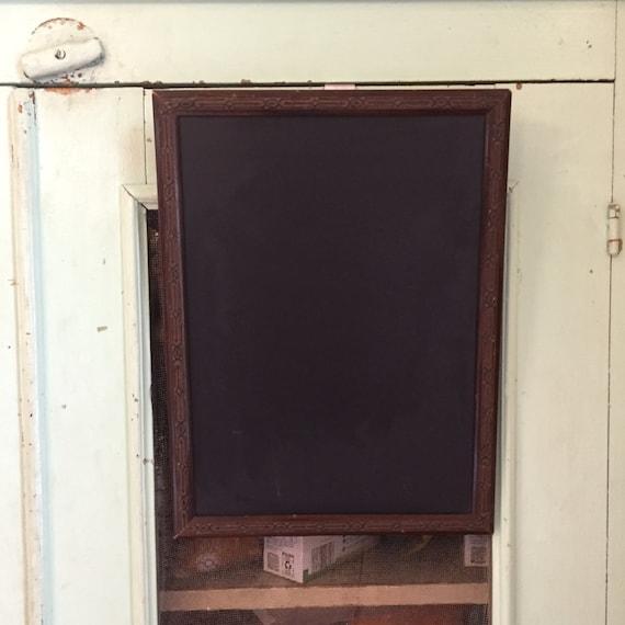 Small Chalkboard, Small Framed Chalkboard, Antique Frame Chalkboard, Dark Framed Chalkboard, Wooden Framed Chalkboard, Art Deco