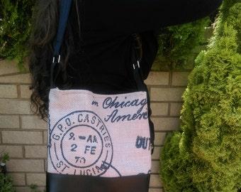 SALE Postmaster feature panel hobo slouch shoulder vegan faux leather fabric shoulder bag handbag