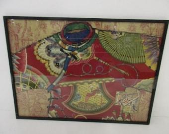 Silkscreen Like Asian Themed Framed Print