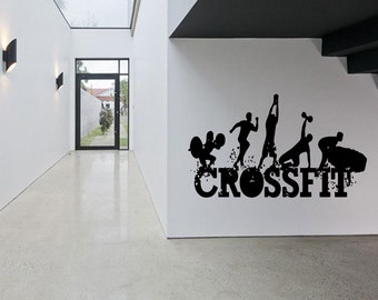 Removable Vinyl Sticker Mural Decal Wall Decor Poster Art Crossfit Bodybuilding Fitness Center Sport Gym Lift Fit Workout Phrase Quote SA947