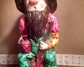 The Moonshine Man Vintage Chalkware Coin Bank