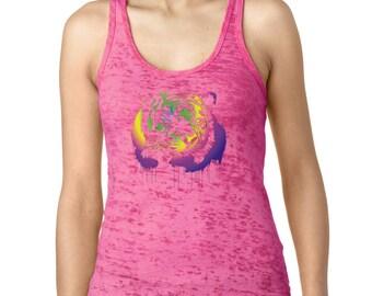 Neon Tiger Women's Burnout Tank
