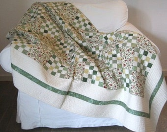 My Garden Quilt, Throw Quilt, Quilts, Handmade Quilts, Gift for my sweetheart