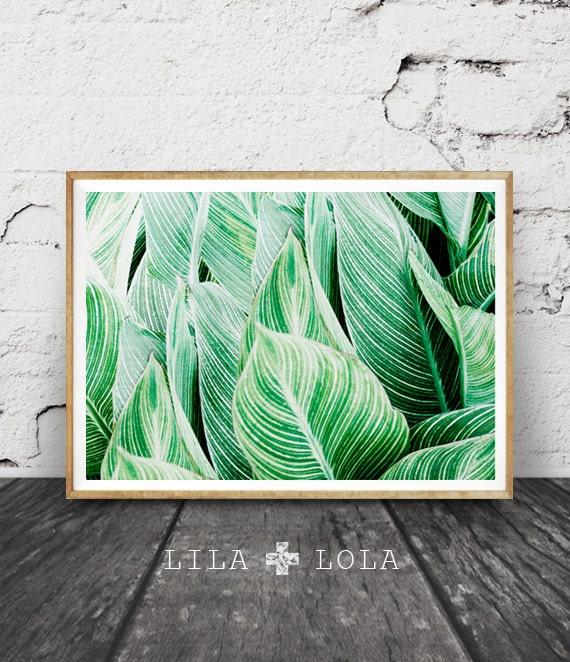 Printable Wall Art Tropical Leaf Print Tropical Art Plant