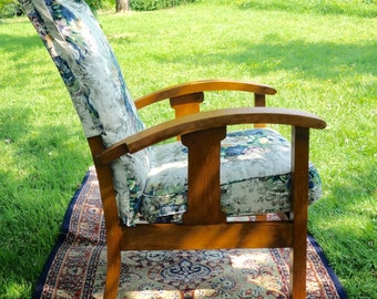 Vintage Easy Chair, 1940's Easy Chair, Floral Upholstered Chair, Kid Bedtime Reading Chair