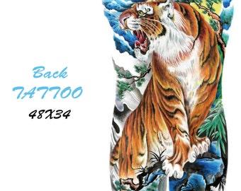 Back tattoo 3 tiger    48X34 cm