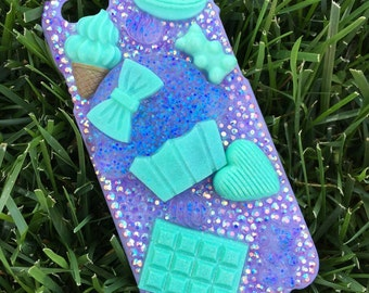 Pastel Mint and Lavender Cupcake iPhone 6/6s Case