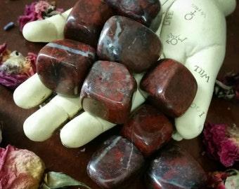 Red Jasper~Large~ tumbled~Pocket~Alter~Meditation~