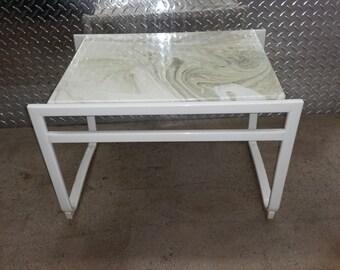 Vintage Mid-Century Modern Samsonite Stool/Ottoman/End/Side Table.