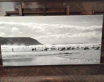 Silouette Surfers Canvas
