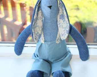 Large Denim Tilda Bunny