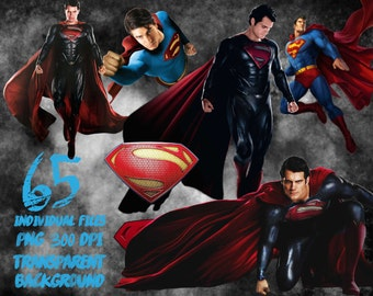 Superman Clipart-PNG -transparent-300dpi-party-printable