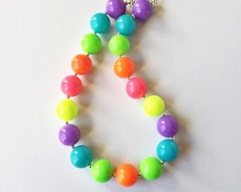 Neon Chunky Bubblegum Necklace