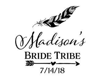 Bride Tribe Tattoo -  Wedding Party Tattoo