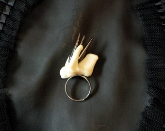 Spiked Wolf Tooth Ring