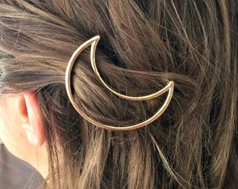 Moon Hairpin - Moon Jewelry - Hair Jewelry - Hair Clip - Hairclip - Bobby Pins - Gift Jewelry - Wedding Hair - Sister gift - Mother Gift