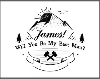 Best Man Card, Will You Be My Best Man, Wedding Cards, Best Man, Wedding, Wedding Party