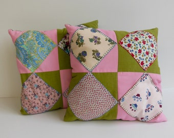 Vintage Quilt Square Pillows