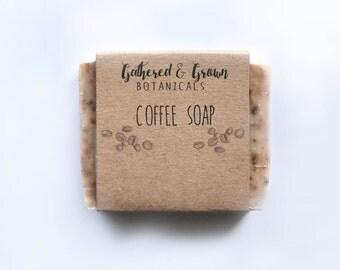 Coffee cocoa butter soap   All natural soap, coffee soap, vegan soap, cold process soap, handmade soap, cocoa butter soap