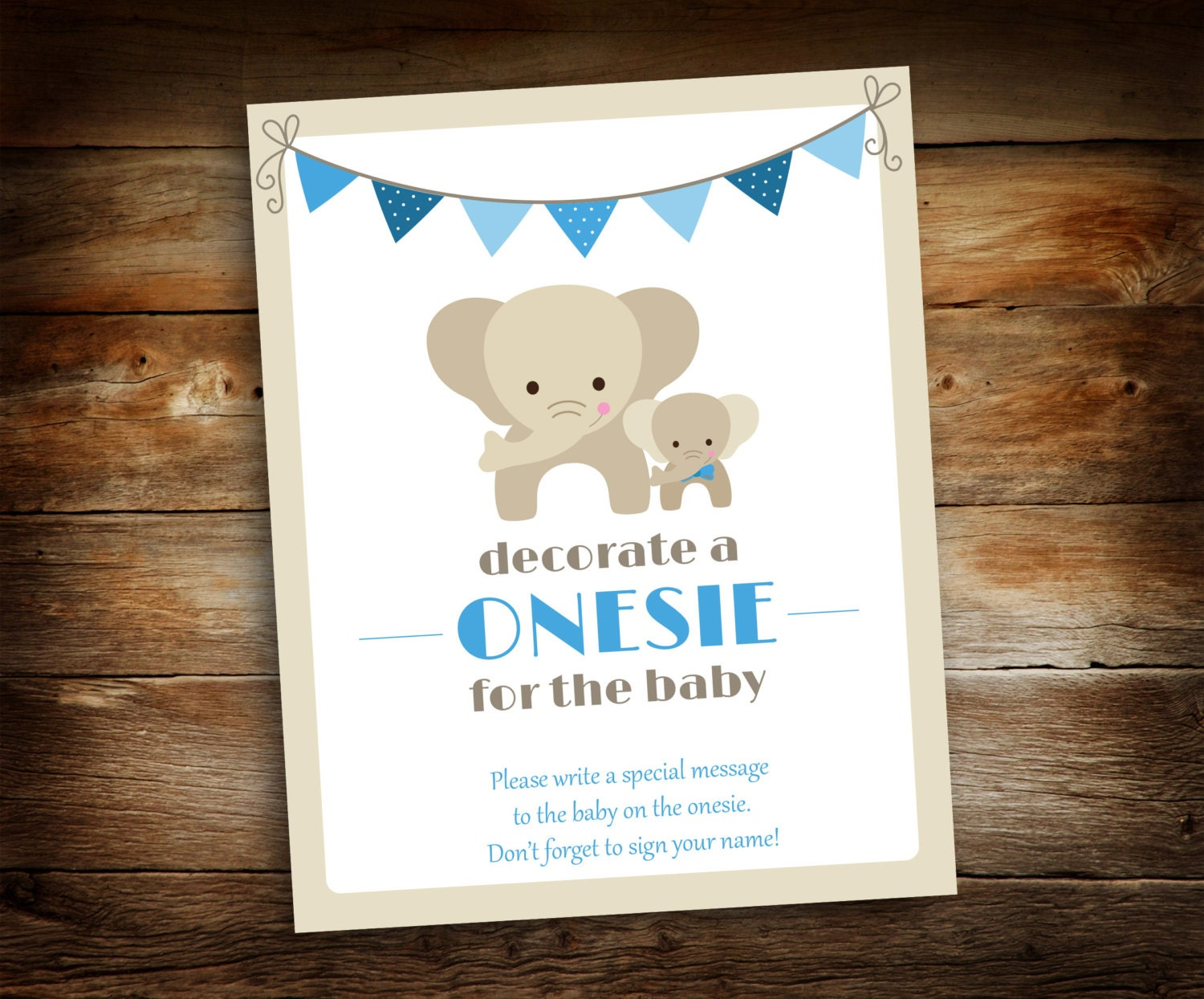 decorate a onesie sign baby shower sign baby shower decoration