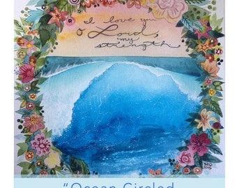 Ocean Circled by Flowers