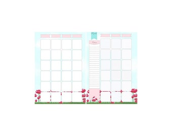 Marion Smith A5 Rendezvous Calender Planner Inserts - 1 Pack of 25 Double Sided Inserts - Planners, Journals, Paper Crafts, Planner Supplies