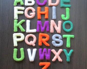 Alphabet felt letters Learning alphabet Educational toys Felt Stuffed Alphabet