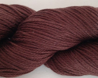 Cascade Ultra Pima Yarn; Color- Chocolate; Weight-DK; Fiber-Cotton