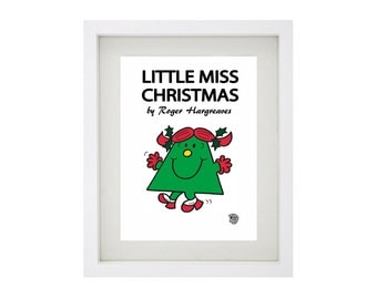 LITTLE MISS CHRISTMAS Character Framed Art Collection - Mr Men and Little Miss Print