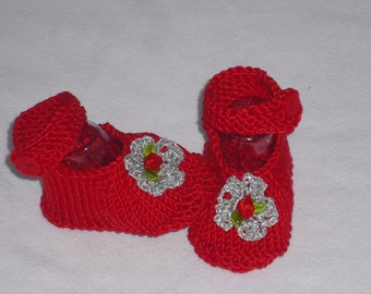 Baby shoes - shoes SL 6 cm - ballerinas - baby shoes - push - handicraft - booties - wool shoes