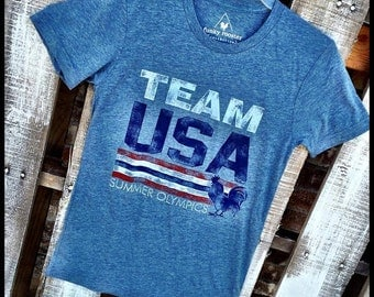 ON SALE Team USA Summer Olympic Rooster Tee