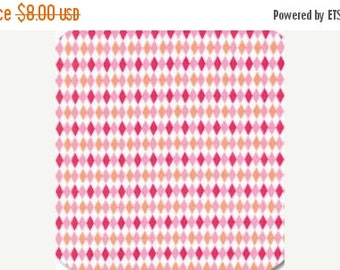 ON SALE Michael Miller, Mini Harlequin in Watermelon fabric, 1 yard CX4831