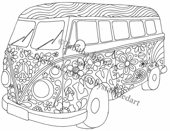 Hippie coloring pages printable coloring pages for Hippie coloring book pages