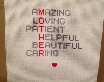 Mother Finished Cross Stitch