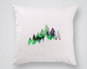 Tree Pillow Cover - Home Decor - Decorative Throw Pillow - Colorful Accent Pillow