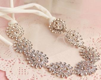Moon River, Bridal headband, Rhinestone headband, Wedding hair accessories, Wedding tiara, wedding headband, Swarovski headband
