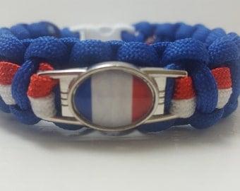 France France Les Blues bracelet parachute cord