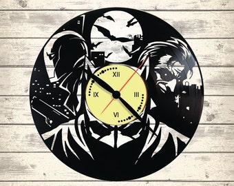 Vinyl Clock/Superheroes, Batman/ An interesting element of the decor/ For music and art lovers