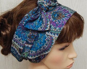 Women's head scarf, summer head accessories, boho hair scarf, bohemian headband, self tie head scarves, women's head wrap