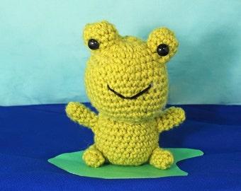 Amigurumi stuffed frog