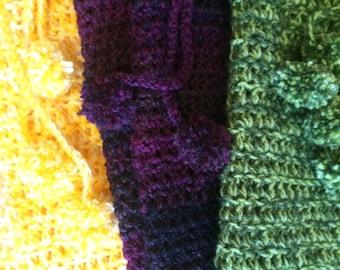 Sunshine Yellow Crochet Leg Warmers