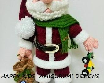 SANTA CLAUS-Amigurumi Crochet Pattern-PDF