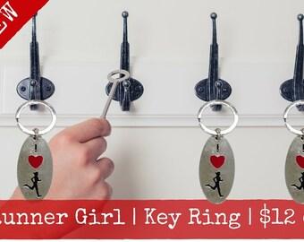Runner Girl Key Ring
