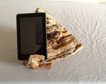 driftwood tablet holder