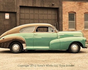 Turquoise Old Chevy 8x10 photo print