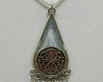 Path of life jewelry - handmade path of life resin pendant